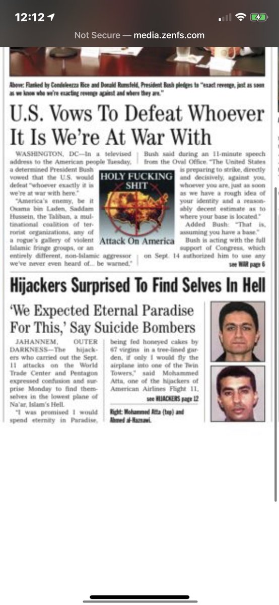 @TheOnion My favorite Onion headline and story... The Hijackers.. still seems relevant really get now..