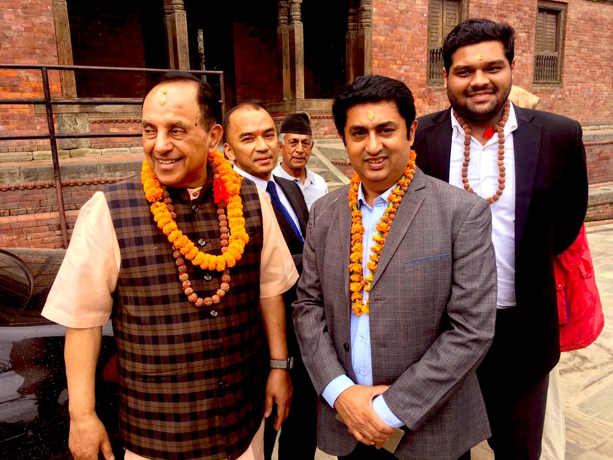 Happy Birthday dynamic Mahesh ji @MaheshJoshi_MJ. I recall our visit with Dr. @Swamy39 to Pashupatinath Temple in Nepal. Blessed 🙏🏻🙏🏻