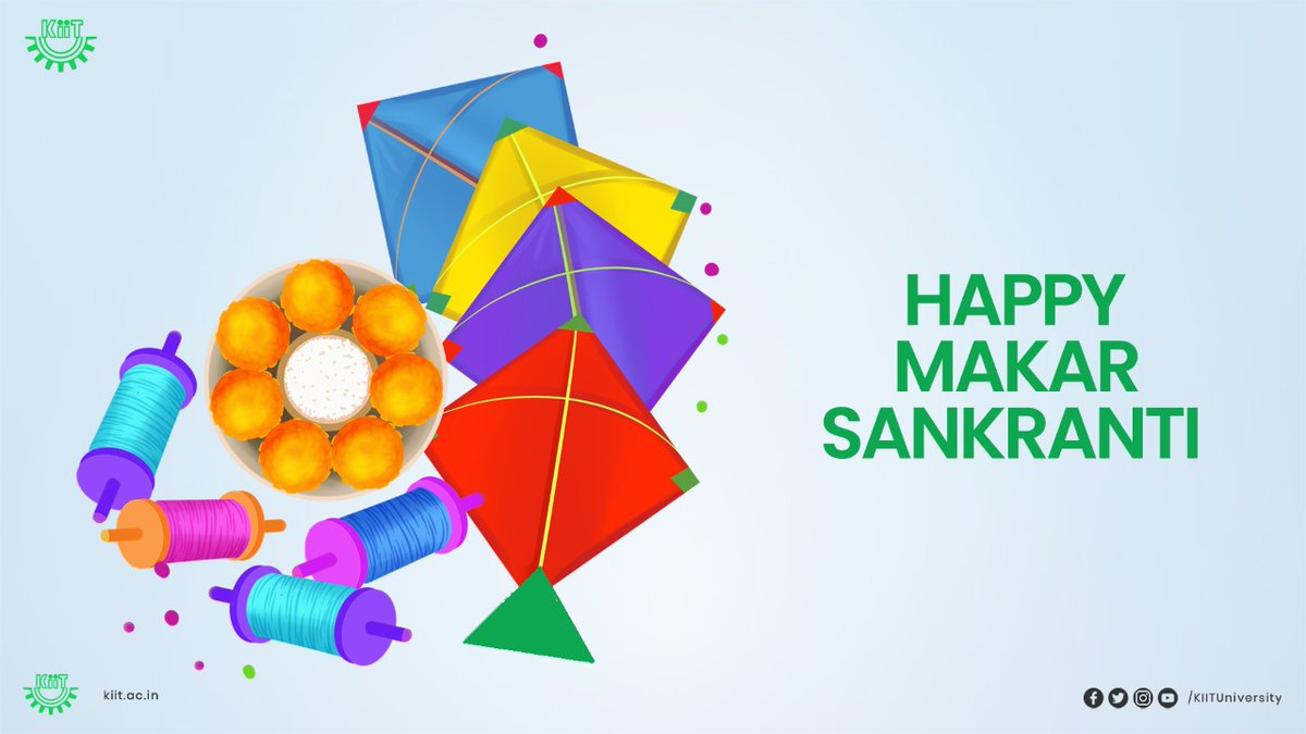 May the new journey of happiness grace your lives on this auspicious occasion & hereafter! #KIIT wishes you all a very Happy #MakarSankranti.  #MakarSankranti2021 #HappyMakarSankranti2021