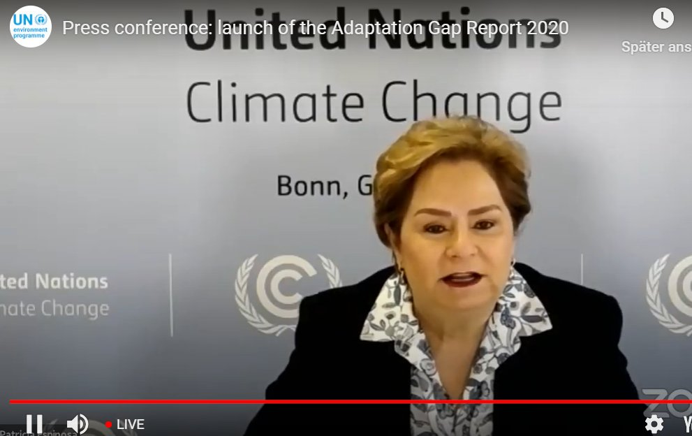".@PEspinosaC at launch of @UNEP #AdaptationReport: ""It is encouraging to note that nations are working hard to develop climate change adaptation plans. 72 per cent of all signatories to the Paris Agreement have adopted at least one national-level adaptation planning instrument."""