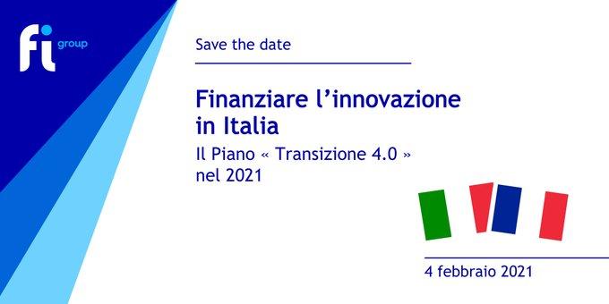 SAVE THE DATE 📣Webinar | 4 febbraio 2021 | 11:00 CET#FIGroup#HelpingIdeasGrow#Italia....
