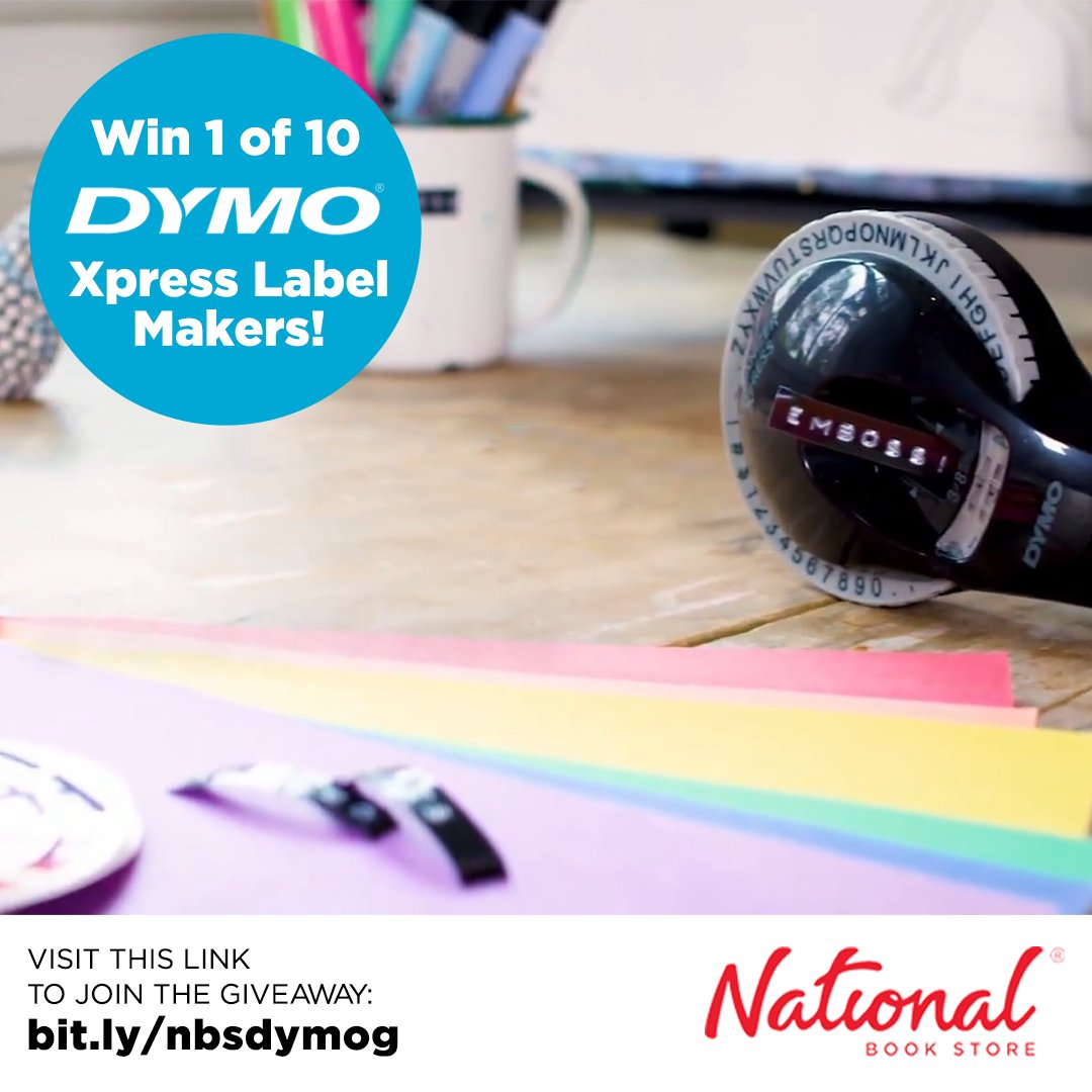 Organize your study or work space at home with a Dymo Xpress Label Maker! Join our giveaway and get a chance to be one of 10 lucky winners!  Visit this link to join now: . #Dymo #NBSgiveaway #NBSeveryday