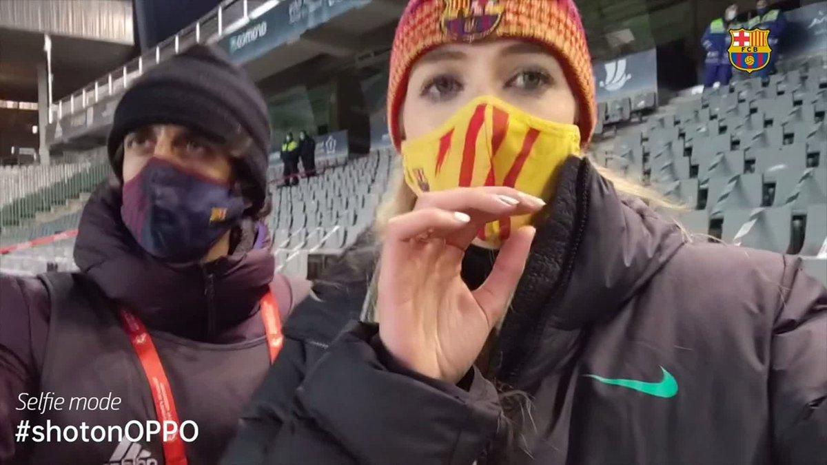 🍿 VLOG | #SupercopaBarça 🏆 😱💥 Insane penalty shoot out reaction from Córdoba Full video:  📲 @oppo #shotonOPPO