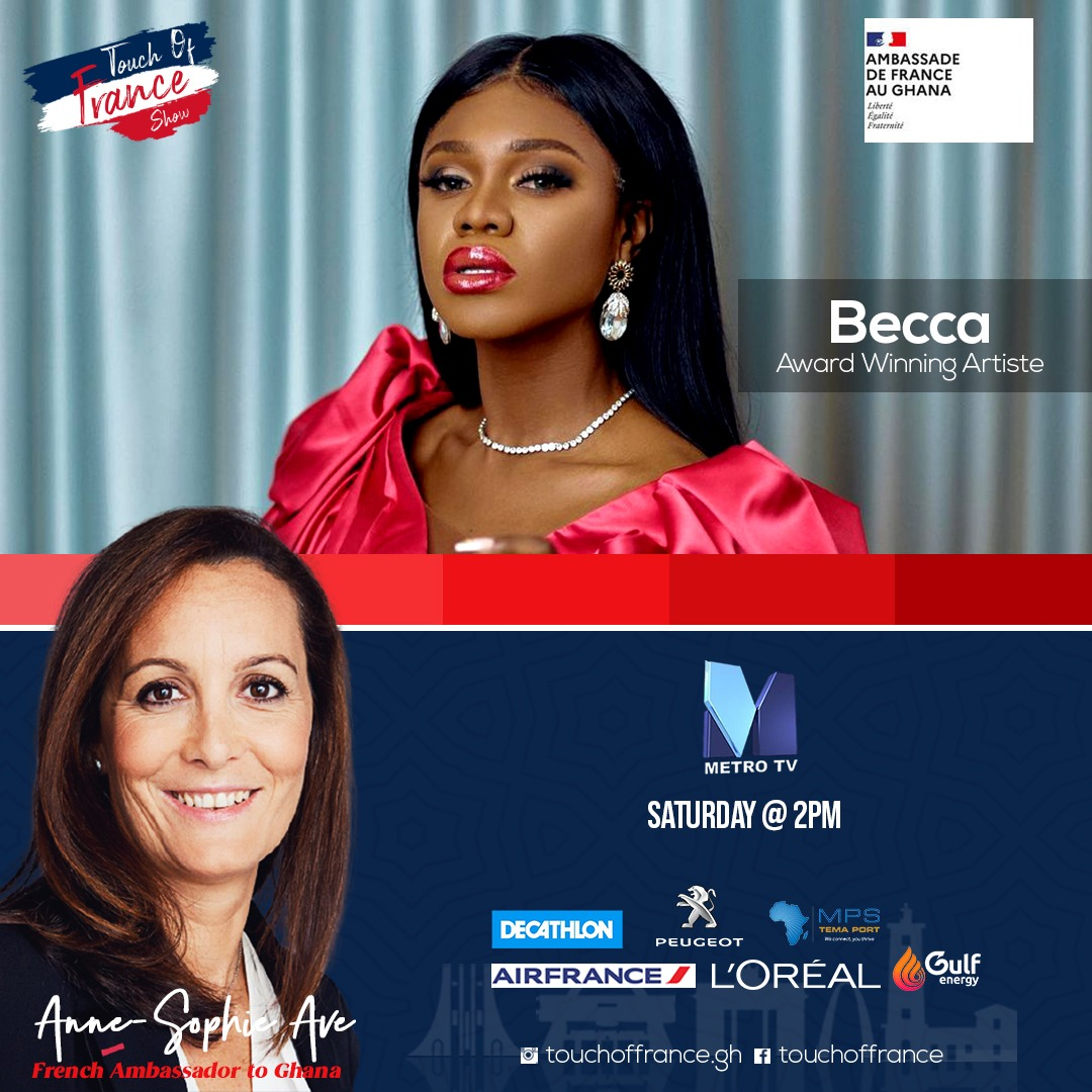 This weekend in #touchoffrancegh my guest is the beautiful singer and entrepreneur @beccafrica. Pamper yourself watching us discuss welness and welfare @FranceandGhana and of course another quiz and prize to win! @TheRealBolaRay