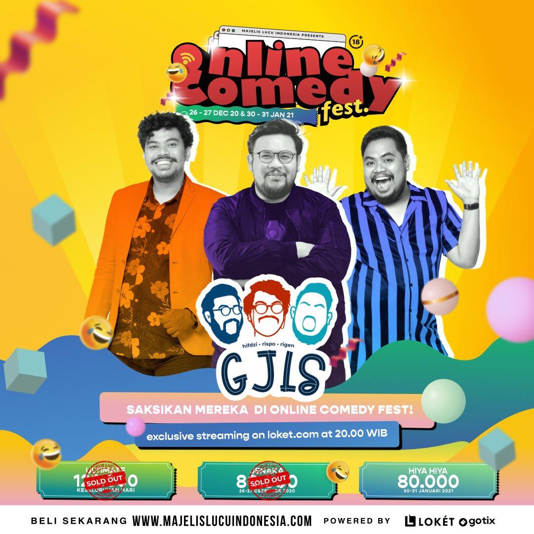 Sumber kelucuan di Online Comedy Fest !!  30-31 Januari 2021 Pukul 20.00 Tayang di @loketcom   Beli tiketnya di