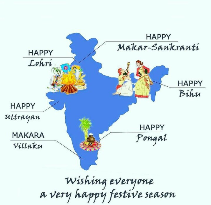 Wishing you a very happy and blissful #MakarSankranti #Uttarayan #Bihu #Pongal #MAKARAVILAKKU