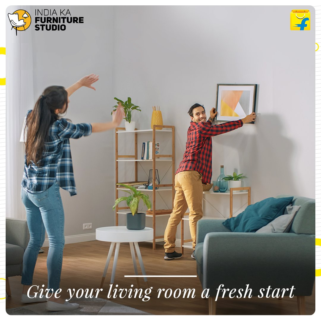 This new year, shop top furniture and give your living room a fresh start with Flipkart furniture, India Ka Furniture Studio. Shop Now: