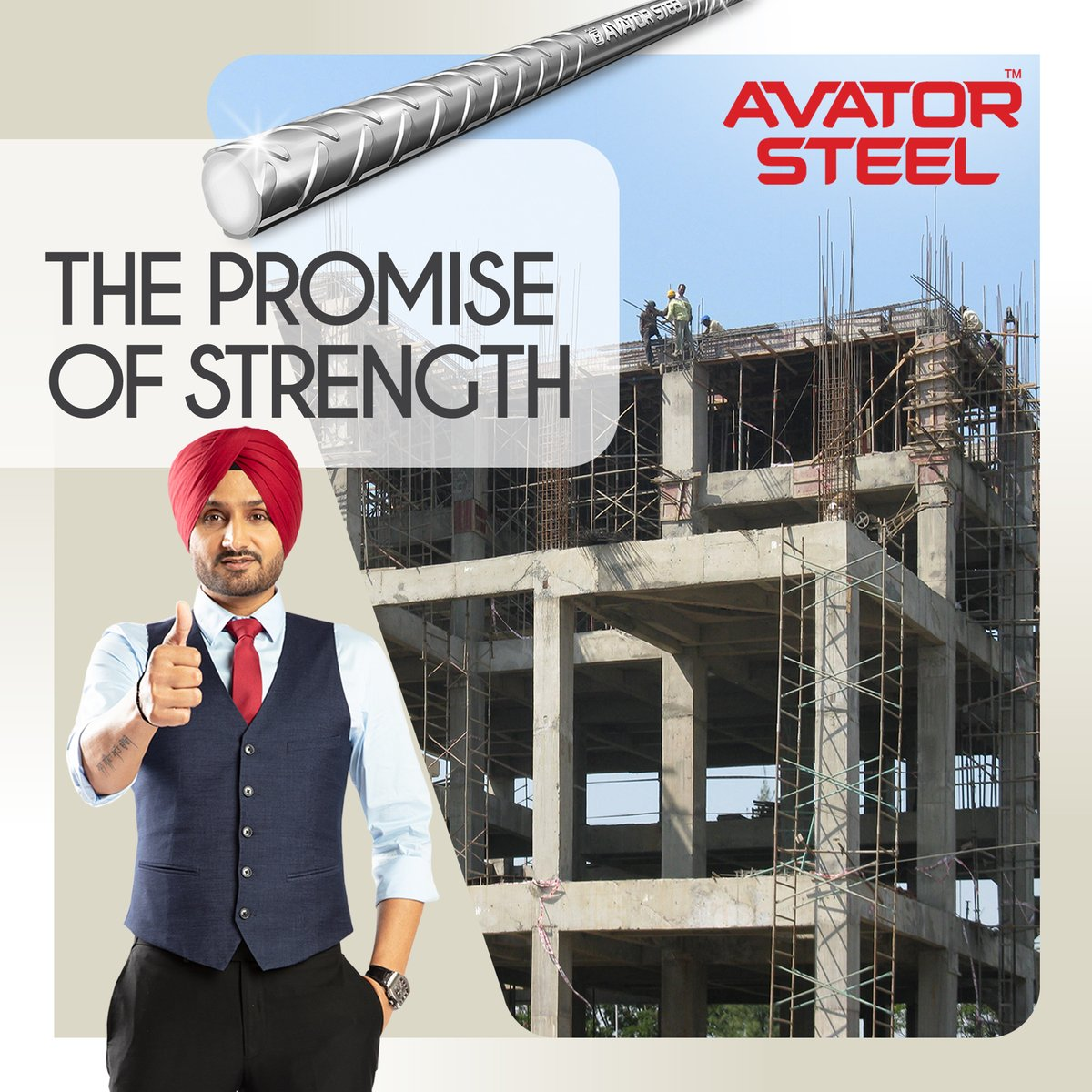Give your home the ultimate strength to withstand calamities like earthquakes.  Choose always the best, choose #AvatorSteel.   #HarbhajanSingh #Strength #rustproof  @harbhajan_singh
