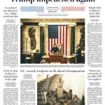 Image for the Tweet beginning: Some front pages from US