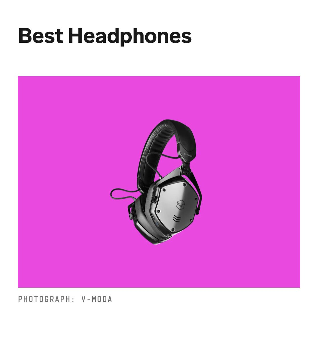 @WIRED Best Headphones at #CES2021 @VMODA