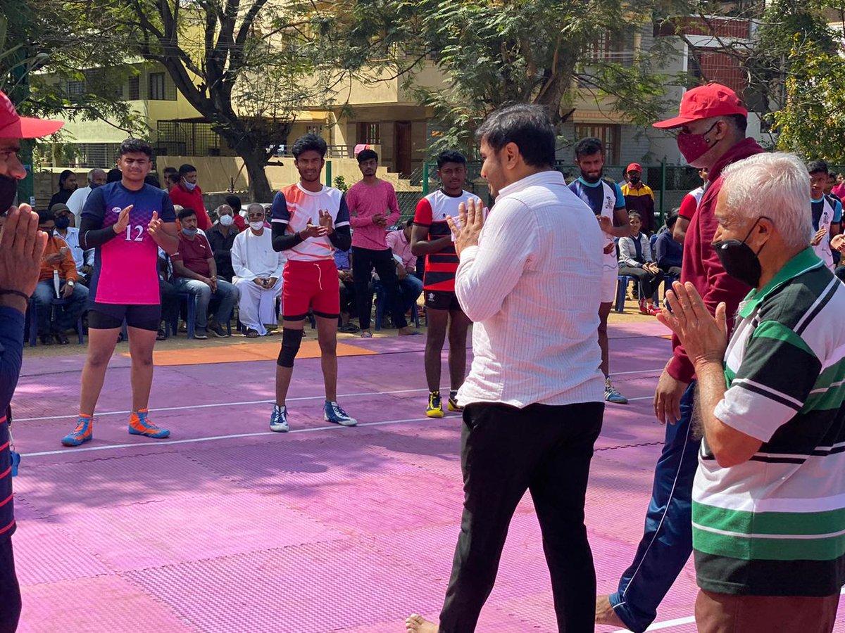 #Kabaddi tournament for Men and Women is being held at #RajarajeshwariNagar as part of #SankrantiSanthe celebrations. You too join us!  #MakaraSankranti #Sankranti2021 #Pongal2021