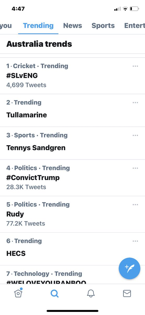 @MeidasTouch #ConvictTrump is no4 in Ozzy land