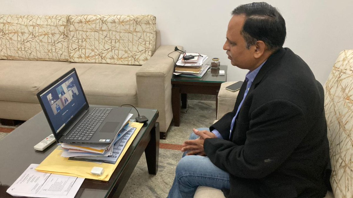 Attended a virtual meet with ILBS's doctors along with honourable Chief Minister Shri @arvindkejriwal Ji on the occasion of 11th Foundation Day of ILBS.   I extend my heartfelt congratulations to ILBS hospital for their continuous efforts of 11 years for serving the nation.