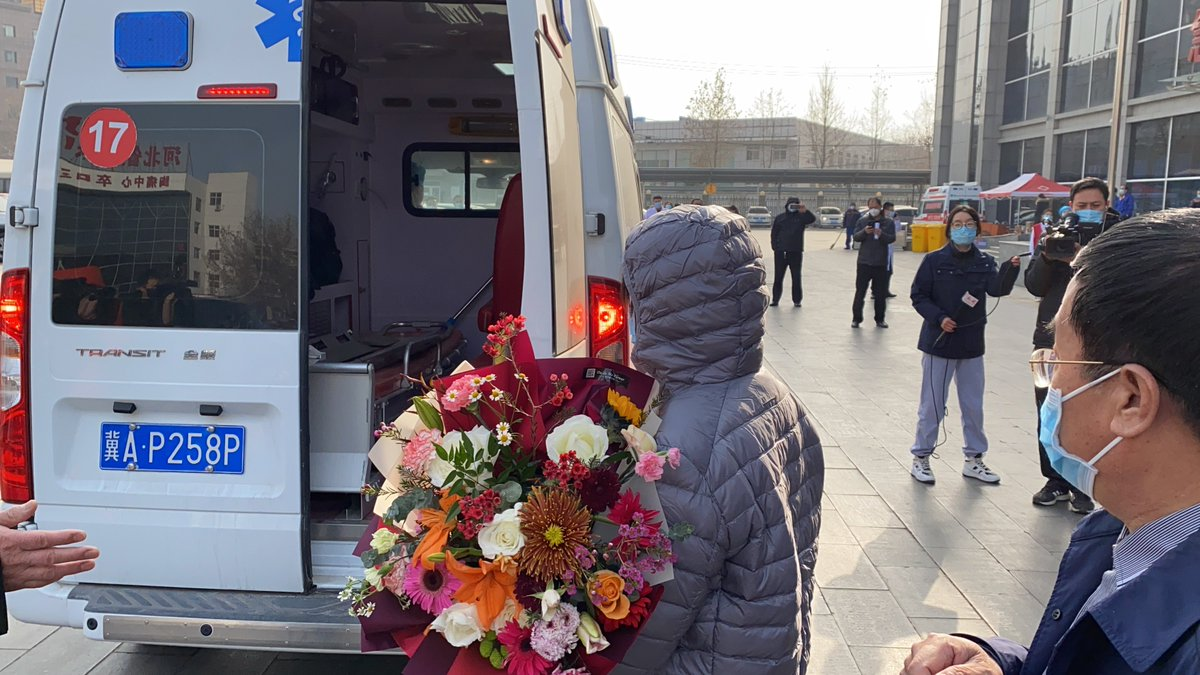 First batch of discharged COVID-19 patients China's virus-hit city Shijiazhuang are transferred to recovery center for another 14 days of quarantine