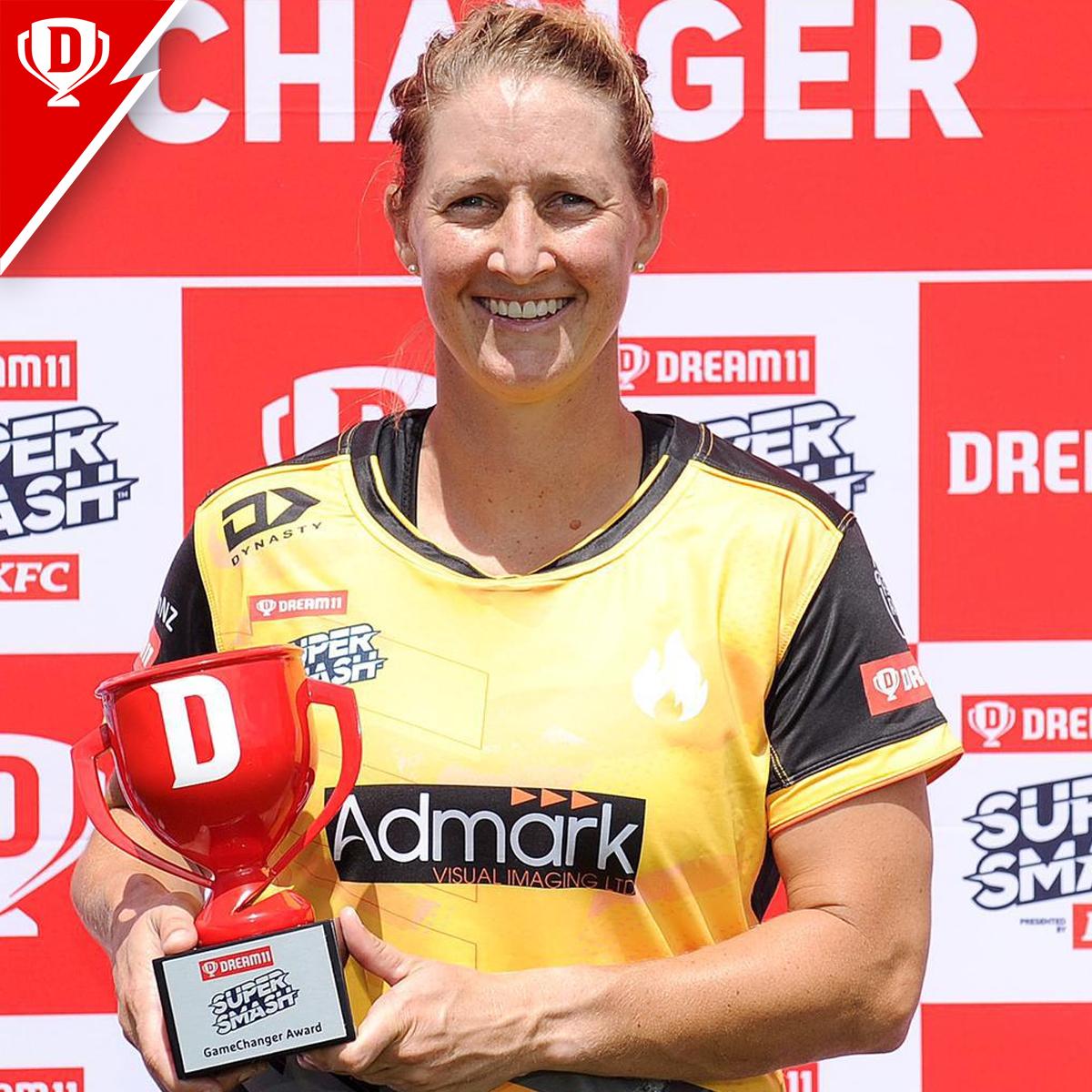 Brilliant hitting in their respective matches saw Sophie Devine (108 runs off 38 balls) and Finn Allen (92 runs off 43 balls) win the #Dream11GameChanger awards in today's #Dream11 @SuperSmashNZ matches ⭐️  Congratulations! 👌