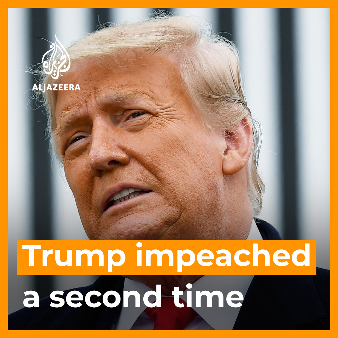 Donald Trump has made history by becoming the first US President to be impeached twice.   10 Republicans joined Democrats in voting for impeachment, which could lead to Trump being barred from running for office ever again.