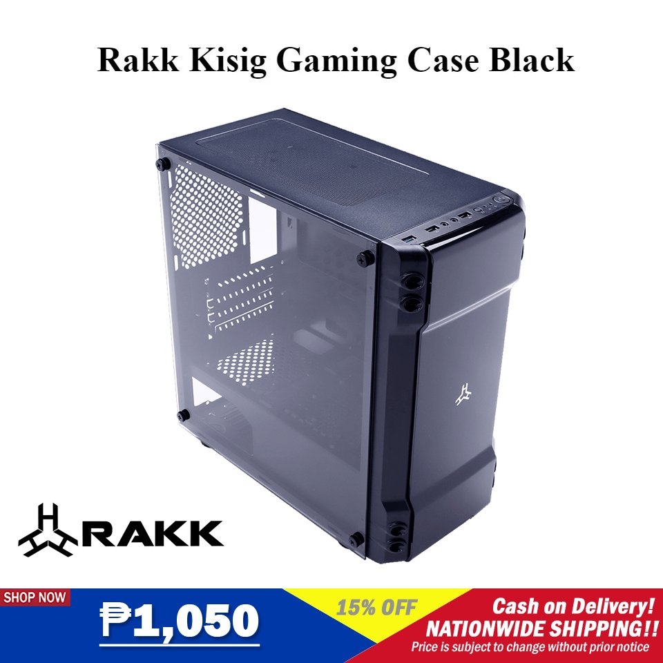 ‼️Rakk Kisig Gaming Case Black‼️ 🛒SHOP NOW!➡  🛒SHOP NOW!➡  ₱1,050  🚚Cash on Delivery 🚚Nationwide Delivery  **Price is subject to change without prior notice  #rakk #LazadaFinds #LazadaPH #LazadaxLMH  #payday #NasaLazadaYan