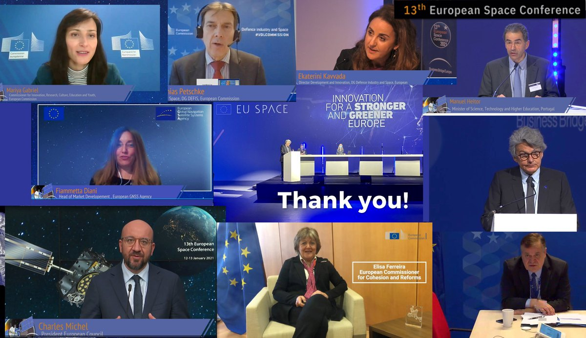 The #BBESpaceConf saw a number of informative & inspiring sessions on #EUSpace & its evolution with a wide variety of knowledgeable speakers! 🗣️Highlights included speeches by @eucopresident @ThierryBreton, @GabrielMariya, Manuel Heitor, @TimoPesonen1, M. Petschke, C. Kavvada