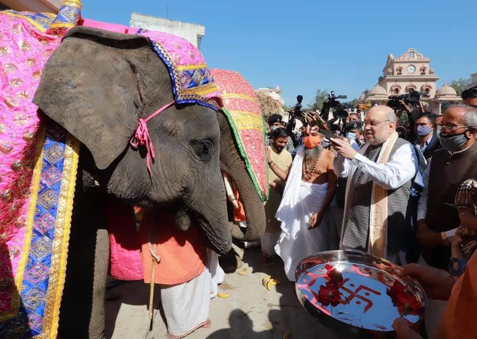Amit Shah in Gujarat on Uttarayan