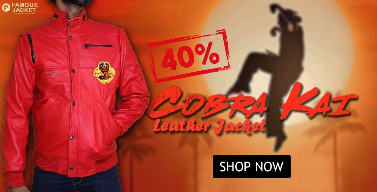 The Karate Kid Cobra Kai Johnny Lawrence Red Leather Jacket Men's Order Now>> 🔥Follow Us, Like & Share To Win #gifts  #JohnnyLawrence #CobraKai #TheKarateKid  #sale #discount #ordernow #onlineshopping #Discounts #WINTER #TheLockdownAwards @CobraKaiSeries