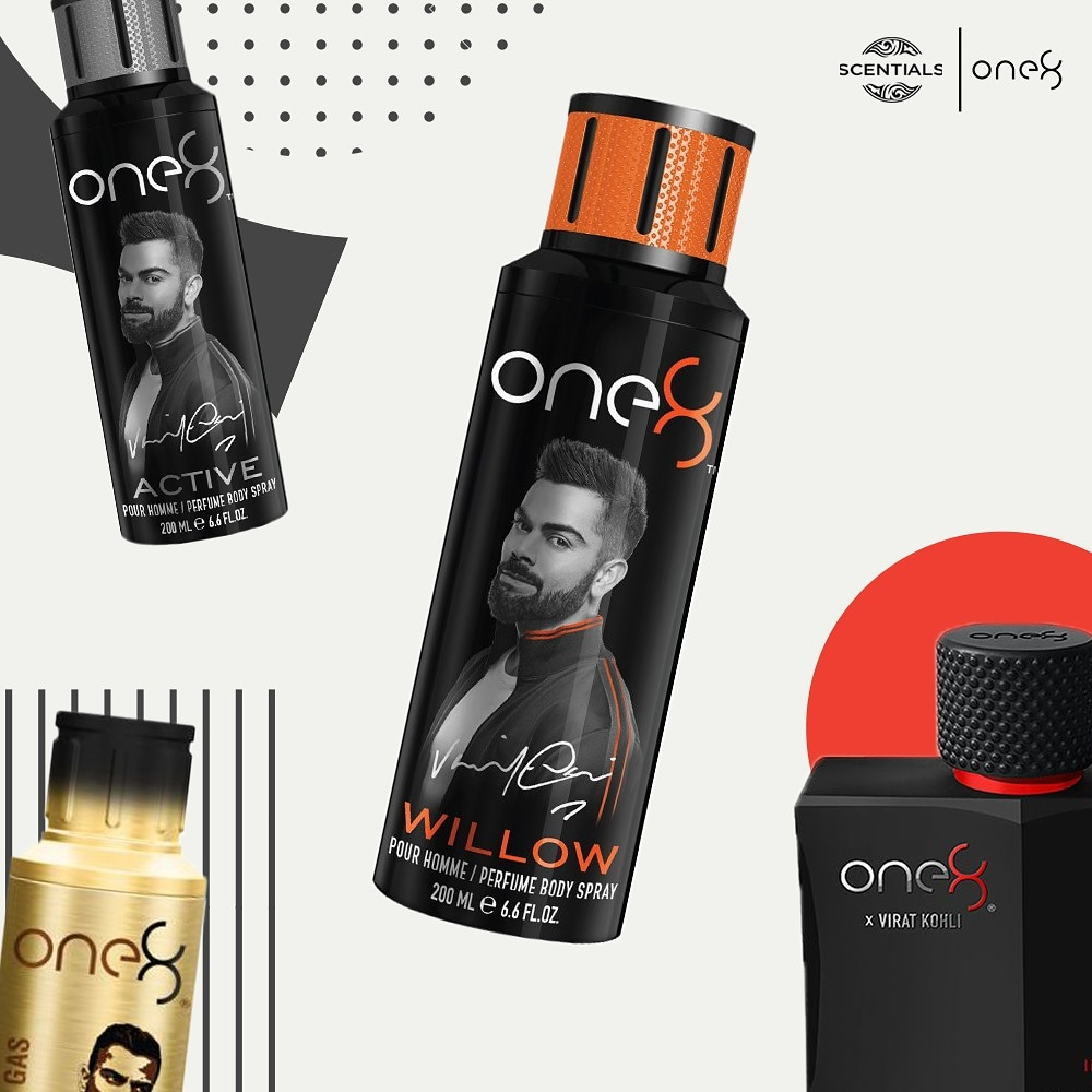 Signature range of fragrances by @imVkohli 👑 @ScentialsWorld #one8