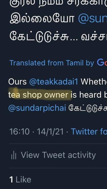 @TechCrunch @refsrc @teakkadai1 @sundarpichai Translation பாருங்க 🤣