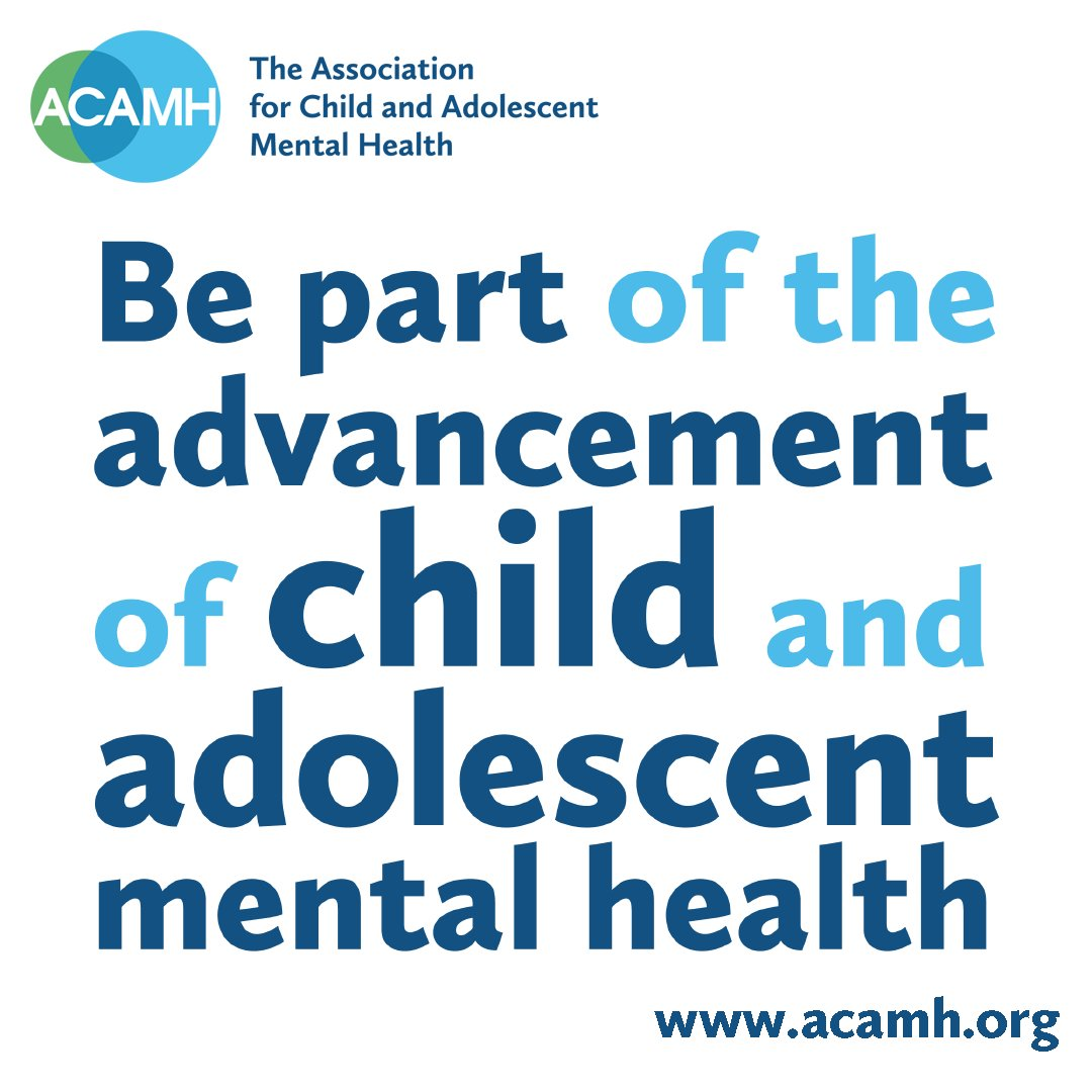 If your work involves child #mentalhealth perhaps being an @acamh member is for you. From 10p a day.  On demand #CPD opportunities, event discounts, world-class #research through @TheJCPP @TheCAMH, book discounts from @wileypsychology, & more. https://t.co/pzr55fXSMI https://t.co/Ocq8jvyU3y