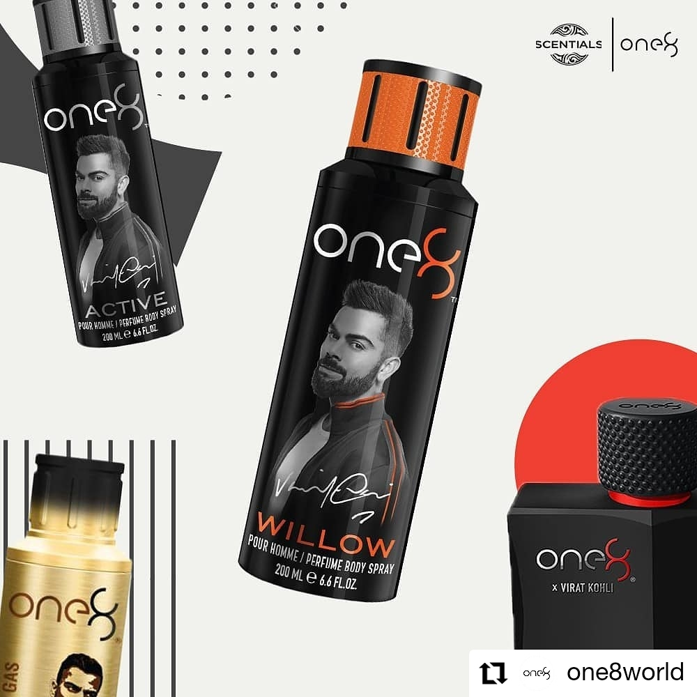 #Repost by @one8world  Signature range of fragrances by @imVkohli 👑 @ScentialsWorld #one8