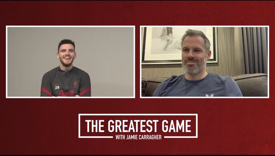 Episode 12 of series 2 @GreatestGamePod   @LFC left back @andrewrobertso5   • Celtic fan ⚽️ • Klopp's Dad dancing 🕺🏻  • Trophies at Liverpool 🏆  • Null & Void 🤷‍♂️ • Facing Man Utd 👊🏻