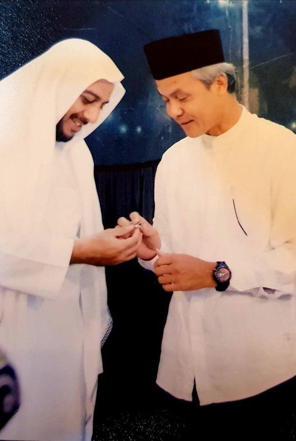 Ganjar Pranowo bersama Syekh Ali Jaber