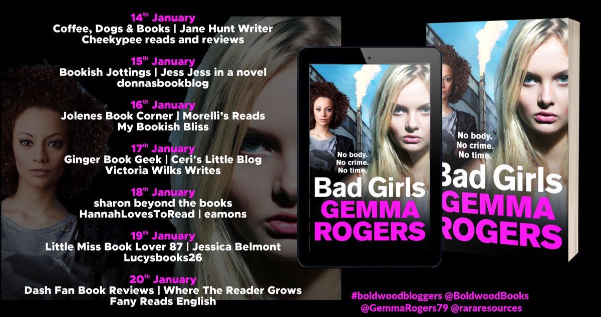 Amazing blog tour line up for Bad Girls! Thank you @BoldwoodBooks