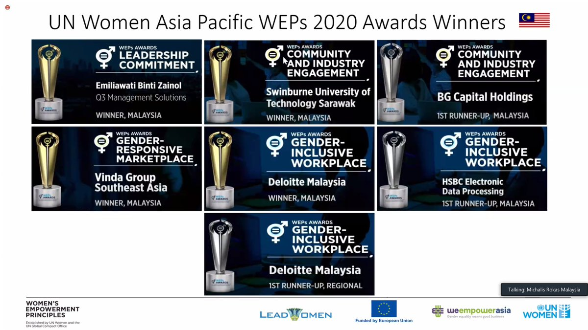 """At the launch of the #WEPsActivator Malaysia today, @KatjaFreiwald emphasized on the need to work with the private sector """"to drive gender equality, inclusivity, and diversity in the recovery,"""" congratulating the #WEPsAwards winners from Malaysia.   #WeEmpowerAsia @EUinMalaysia"""