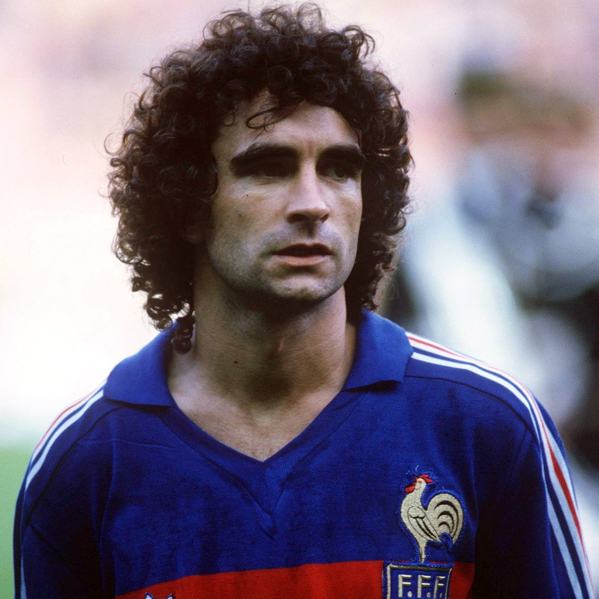 🌟 Dominique Rocheteau inspired Saint-Etienne to 3 straight French top-flight titles and PSG to their 1st, scored in 3 #WorldCup tournaments and helped France win the UEFA EURO. Happy 66th birthday to 'The Green Angel' 💚😇  @ASSE_english | @PSG_English | @FrenchTeam