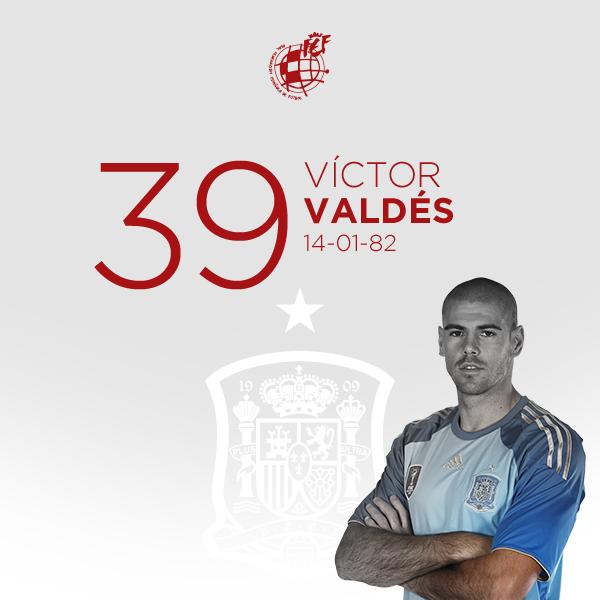 🎂 ¡¡Feliz cumpleaños, Víctor Valdés!!  ⭐ El  guardameta campeón del mundo y de Europa con la @SeFutbol cumple 39 años.   🥳 ¡¡Muchas felicidades!!