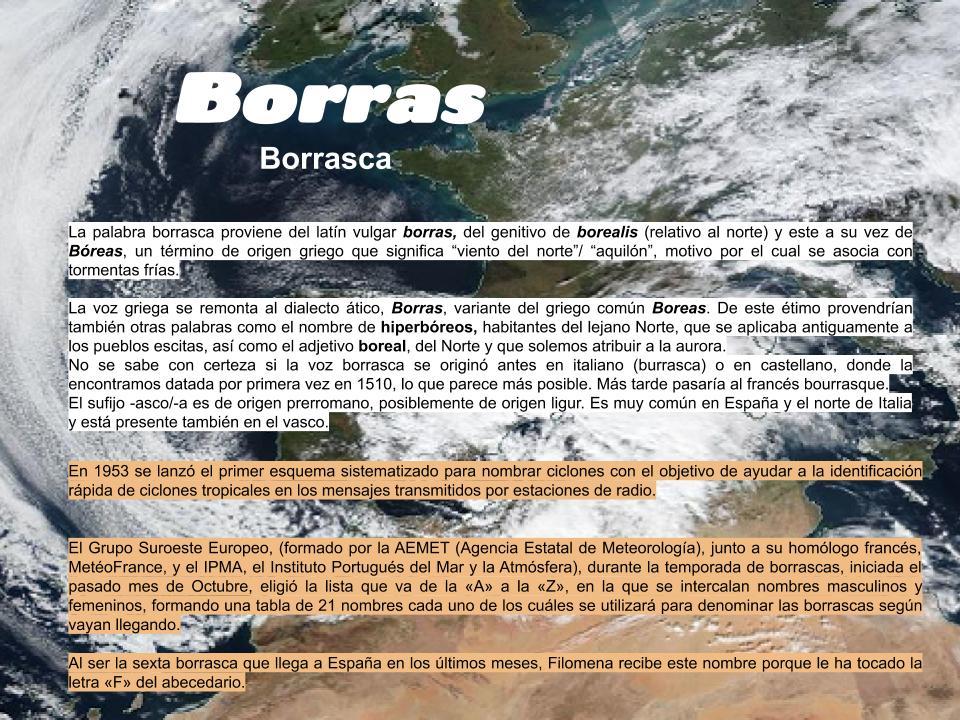"""La palabra #Borrasca proviene del #Latín vulgar borras, del genitivo de borealis y este a su vez de Bóreas, un término de origen griego que significa """"viento del norte""""/ """"aquilón"""", motivo por el cual se asocia con tormentas frías. #famavolat #Clásicas #Innovación #AnaMogas"""