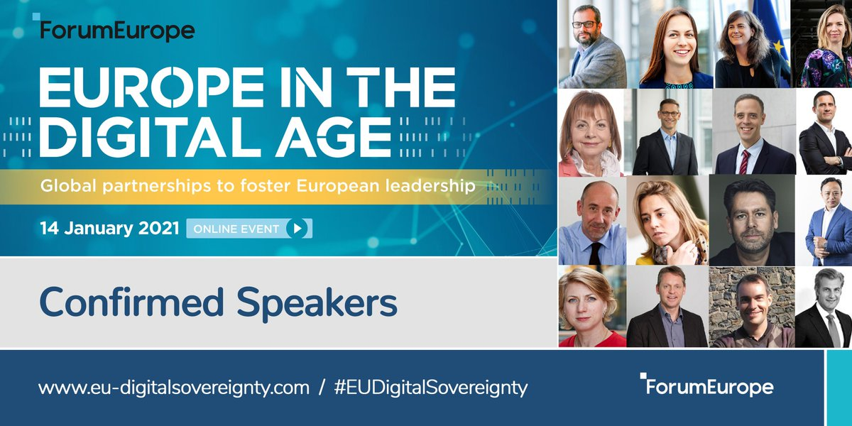 """JOIN FOR FREE today THE """"EUROPE IN THE DIGITAL AGE"""" Conference #EUDigitalSovereignty by @ForumEurope at https://t.co/24nUgfYnva to foster global partnerships and work together to face the #future challenges  #LetsBreakTheCycle #WeAreOne @EU_Commission #EuropeDigitalForGood https://t.co/3XGOlLiIOv"""