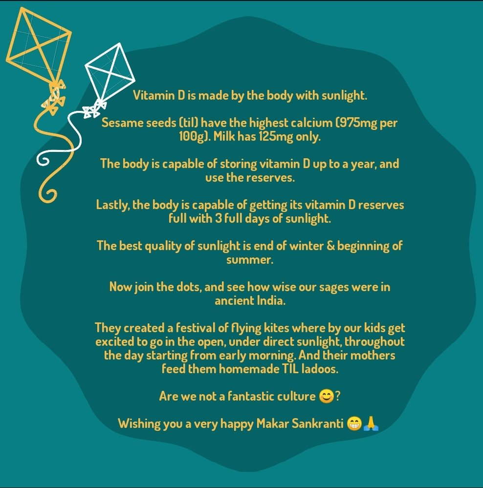 Did you know this about the festival we're celebrating today ? #MakarSankranti