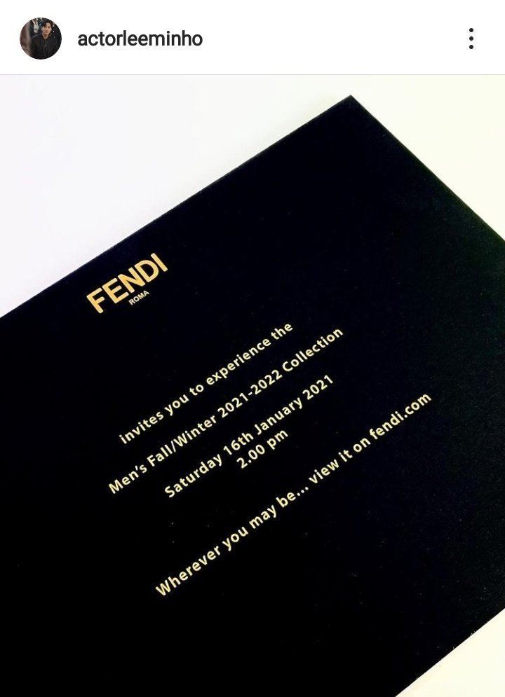 the king is invited by the Italian luxury fashion house #Fendi to experience their Men's Fall/Winter 2021/2022 collection and over a month ago the queen has been invited by Chanel to its annual #CHANELMetiersdArt 2020/21  what an expensive couple 🖤  #LeeMinHo #KimGoEun