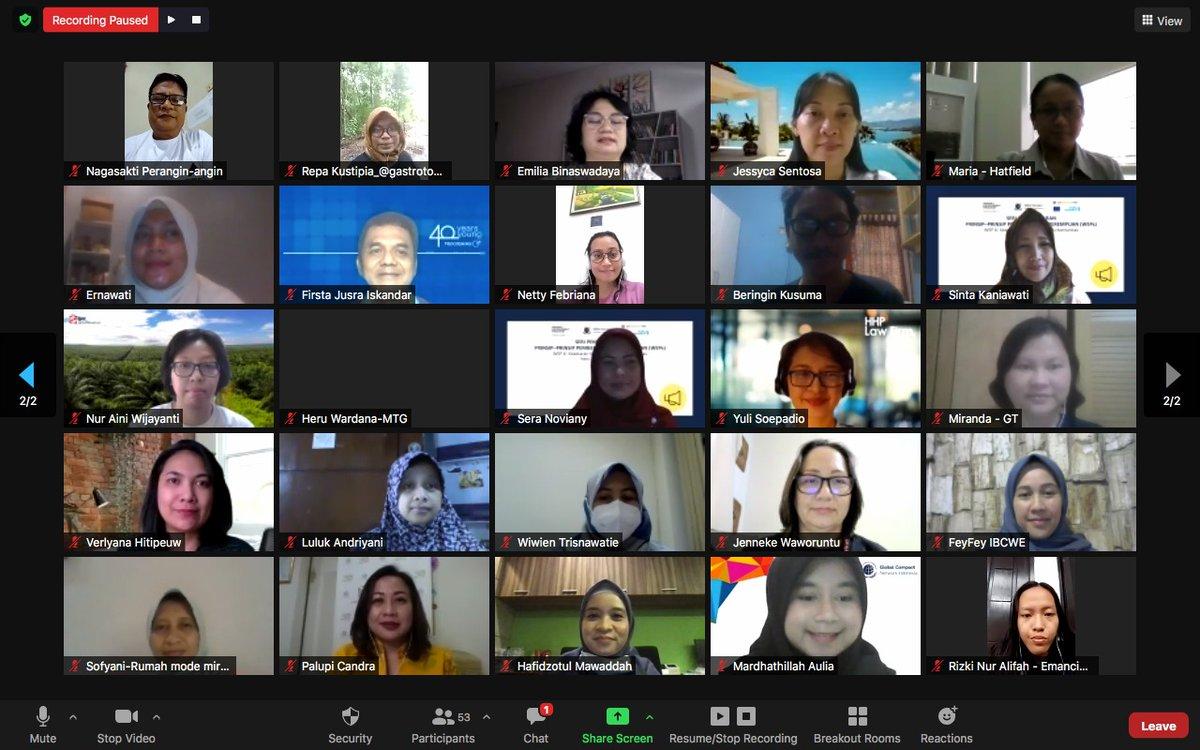 Kemarin, UN Women & @indonesiagcn kembali mengadakan #WEPs Learning Series 6 yang diikuti 50 perwakilan perusahaan & LSM Indonesia. Sesi ini mendiskusikan praktik baik pelibatan LSM & komunitas perempuan dalam aktivitas perusahaan. #WeEmpowerAsia @unwomenasia @EU_Commission