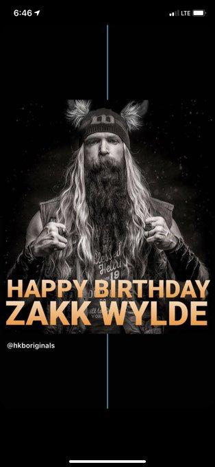 Happy birthday Zakk Wylde of Black Label Society