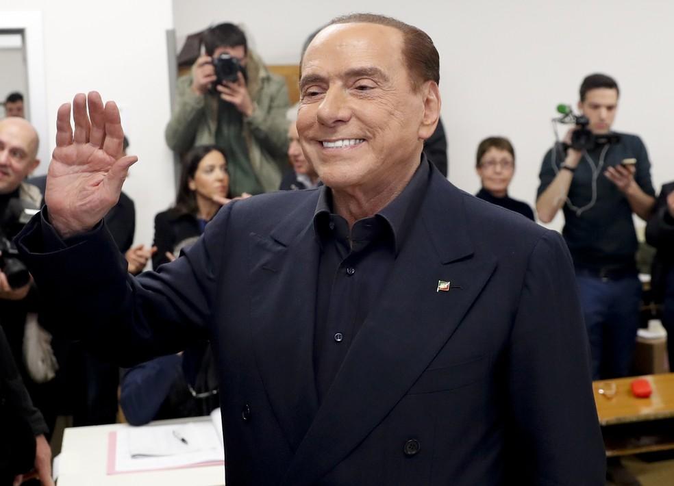 Berlusconi, ex-premiê italiano, é internado em Mônaco para tratar de problemas cardíacos  #G1