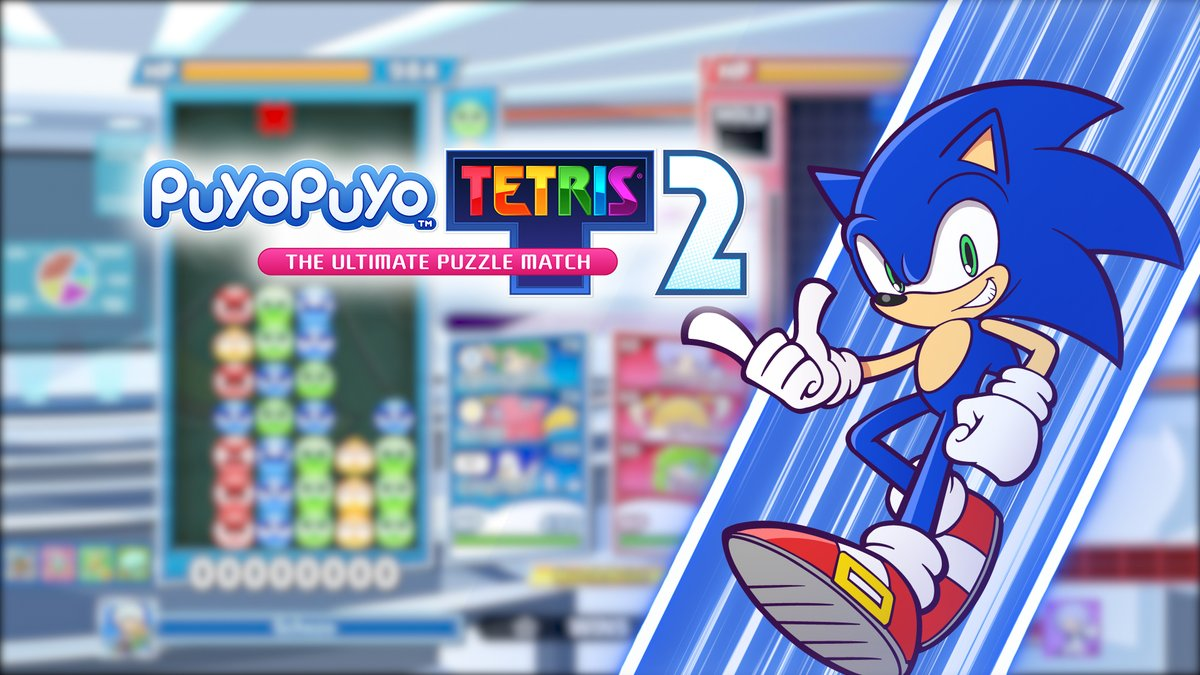 Gotta drop fast! 🔵💨 Sonic dashes into Puyo Puyo Tetris 2 as a playable character, alongside a new co-op Raid Mode in today's free update: