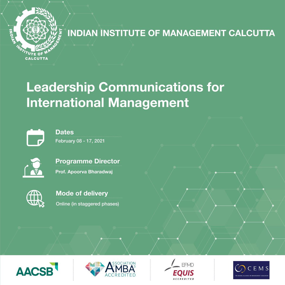 Increase your productivity in the global market space by learning intercultural communication skills and adopt diverse communication strategies with IIM Calcutta's Leadership Communications for International Management online programme. Know more: https://t.co/7Ds2uqK8BY https://t.co/Kp2MMVskWl