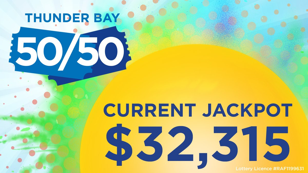 It's only been one day and the #ThunderBay5050 jackpot is already $32,315 and rising quickly!!  ‼️ Get in on the action at  ‼️  Proceeds will fund the highest priority equipment needs right here at @TBRHSC_NWO, meaning better healthcare for our community.💙