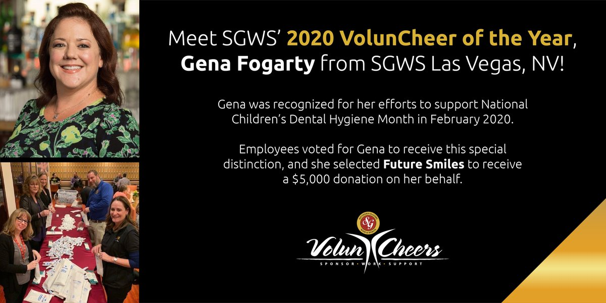 Congrats to #SGWS Nevada's Gena Fogarty on being voted the 2020 VolunCheer of the Year! Learn more about Gena's volunteer work & the results of our 2020 #SgwsGivesBack Holiday Giving Campaign: . #volunteer #GiveBack #charity #HolidayGiving #community