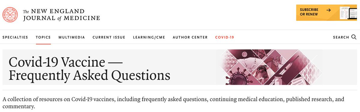 Lots of questions about the Covid-19 vaccines -- here are some of the more common ones, with my answers. Directed at clinicians, but probably something here for all. Any that we missed? @NEJM