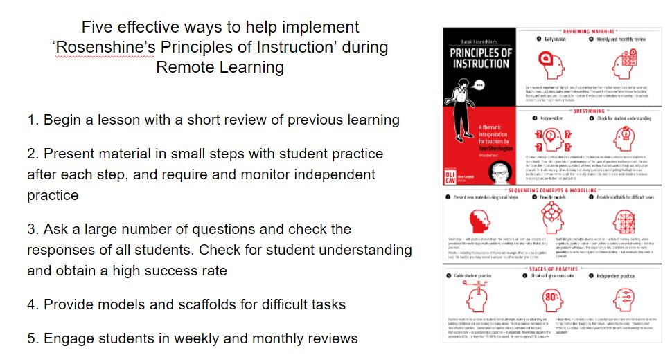 A big thank you to @teacherhead for his fantastic article about remote learning. It has helped to inform our thinking and drive our continued professional development even whilst we work remotely! #remotelearning #edutwitter