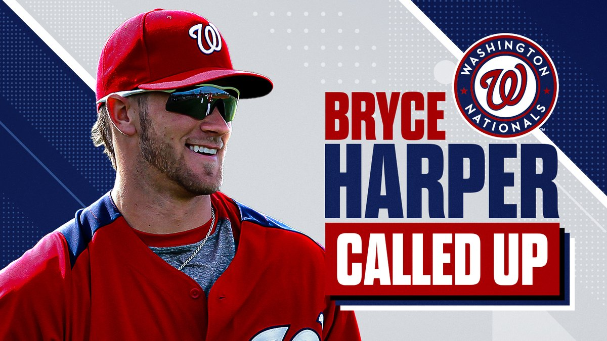 Bryce Harper is here! Step into the MLB Vault Time Capsule. Today, MLB Vault and our friends at @Cut4 will be posting as we would have on the day of Bryce Harper's debut. Enjoy the ride back to April 28th, 2012!