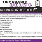 Image for the Tweet beginning: ksuiteach: Teaching annotation skills can