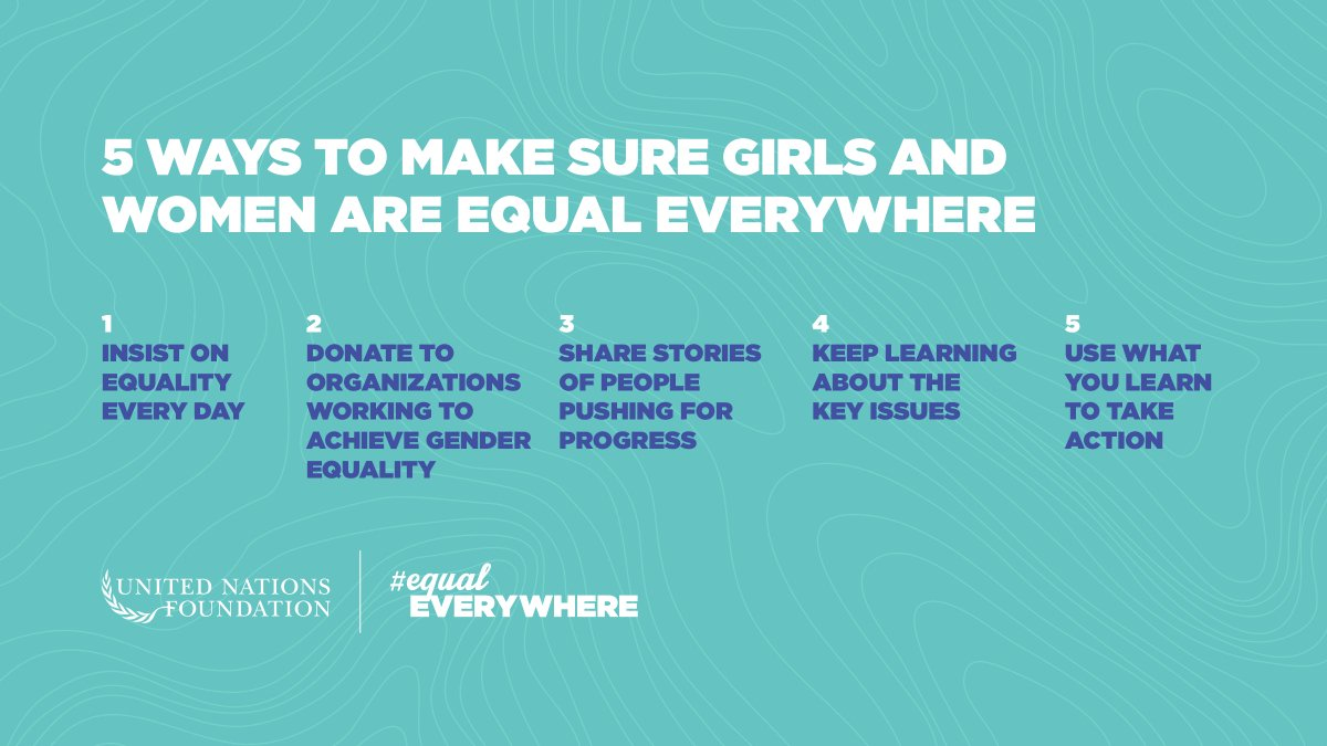 When girls and women are #EqualEverywhere, the possibilities for a better world are endless.   We're stepping up with the @UNFoundation to fight for faster progress toward #GenderEquality. Join us.